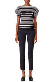 Striped Ruffle Sleeve Top by Jason Wu