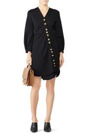 Bond Knit Asymmetrical Shirtdress by Tibi