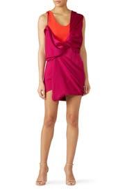 Hybrid Draped Mini Dress by Atlein