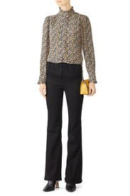 Long Sleeve Mini Floral Top by Rebecca Taylor