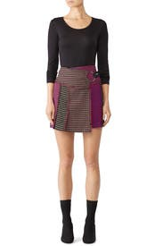 Houndstooth Maya Skirt by Tanya Taylor