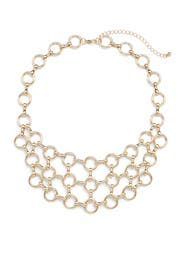 Gold Circle Bib Necklace by Slate & Willow Accessories