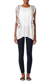 Sheer Skyler Embroidered Blouse by B Collection by Bobeau