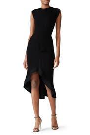 Rib Knit Peplum Dress by Esteban Cortazar