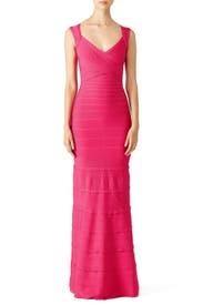 Pink Estrella Signature Essentials Gown by Hervé Léger