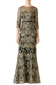 Moises Embroidered Gown by Marchesa Notte
