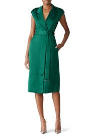 Green Wrap Effect Dress by Jason Wu Collection