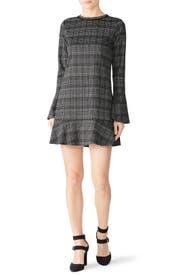 Plaid Flounce Dress by Michael Stars