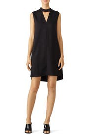 Black Textured Collar Shift Dress by Derek Lam 10 Crosby