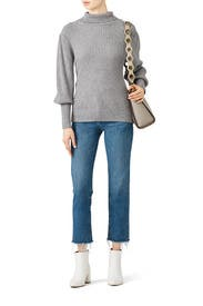 Puff Shoulder Sweater by Moon River