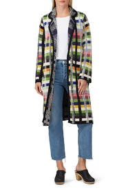 Three Button Plaid Coat by Aldomartins