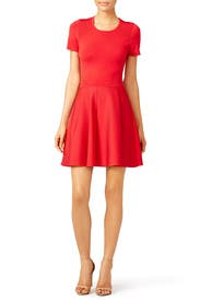 Red Trace Knit Dress by Parker