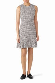Houndstooth Tweed Dress by Rebecca Taylor