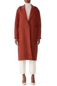 Sienna Long Lapel Coat by Becken