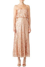 Rose Gold Courtney Gown by Donna Morgan