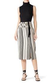 Striped Nola Skirt by Zero + Maria Cornejo