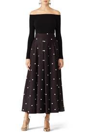 Polka Dot Midi Skirt by Fame & Partners