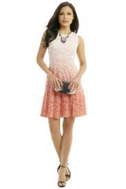 Peach Dip Dye Dress by Trina Turk