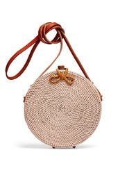 Williamsburg Straw Circle Bag by Cleobella Handbags