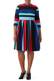 Opposing Striped Knit Dress by ELOQUII