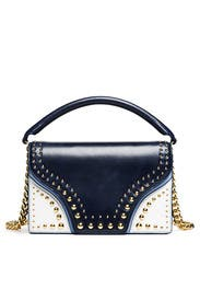 Navy Soiree Top Handle Bag by Diane von Furstenberg Handbags