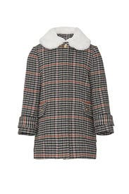 Kids Faux Fur Collar Coat by Chloé Kids