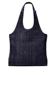 Navy Woven Suede Zoe Tote by Elizabeth and James Accessories