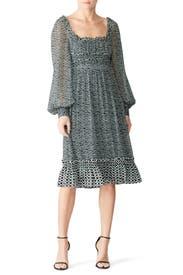 Bluestone Square Neck Dress by Proenza Schouler