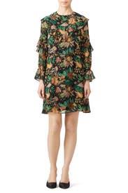 Ruffle Jungle Print Dress by Scotch & Soda
