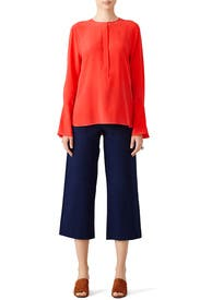 Red Kenley Top by Equipment