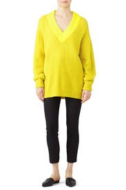 Yellow Airy Pullover by Tibi