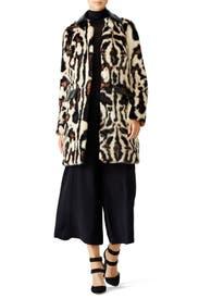 Animal Print Faux Fur Coat by Carven