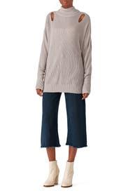 Barley Cutout Sweater by ella moss