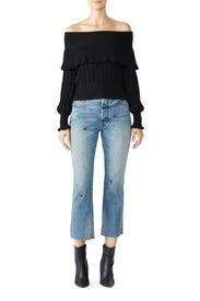 Crazy In Love Ruffle Sweater by Free People