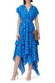 Yasmine Tiered Floral Dress by Shoshanna