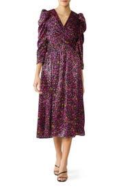 Marker Floral Devore Dress by kate spade new york