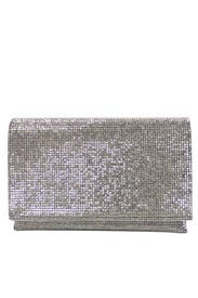 Pewter Foldover Clutch by Sondra Roberts