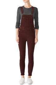 Slim Ankle Cord Overalls by Free People
