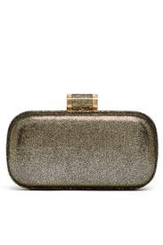 Speckled Gold Oblong Minaudiere by Halston Heritage Handbags