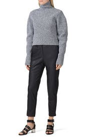 Two Way Cropped Sweater by Tibi