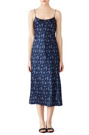 Navy Calico Floral Slip Dress by VINCE.