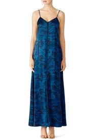Blue Floral Kimono Maxi by Elizabeth and James