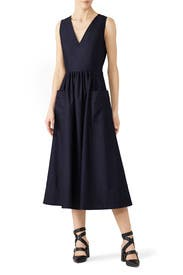 Sleeveless Trapunto Hem Dress by Co