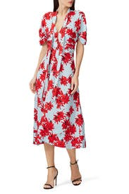 Floral Neck Tie Dress by Proenza Schouler