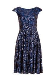 Blue Botany Dress by Badgley Mischka