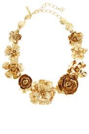 Gold Bold Flower Necklace by Oscar de la Renta