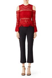 Red Dillon Blouse by Saylor