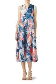 Tree Print Midi Dress by Fuzzi
