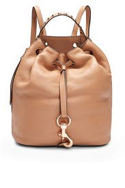 Tan Blythe Backpack by Rebecca Minkoff Accessories