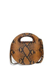 Snakeskin Indy Circle Crossbody by Loeffler Randall